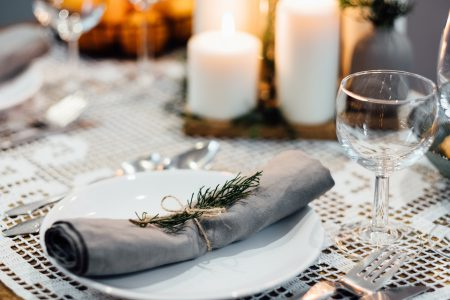 Festive table setup 2 - free stock photo