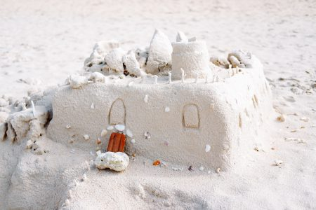 A sandcastle - free stock photo