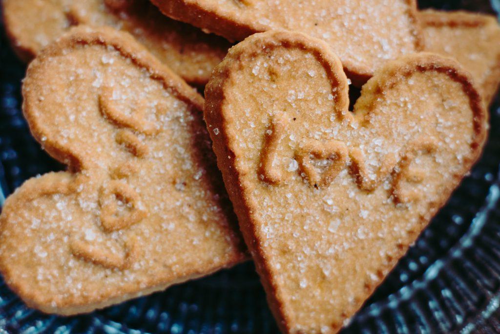 Heart-shaped cookies 3 - free stock photo