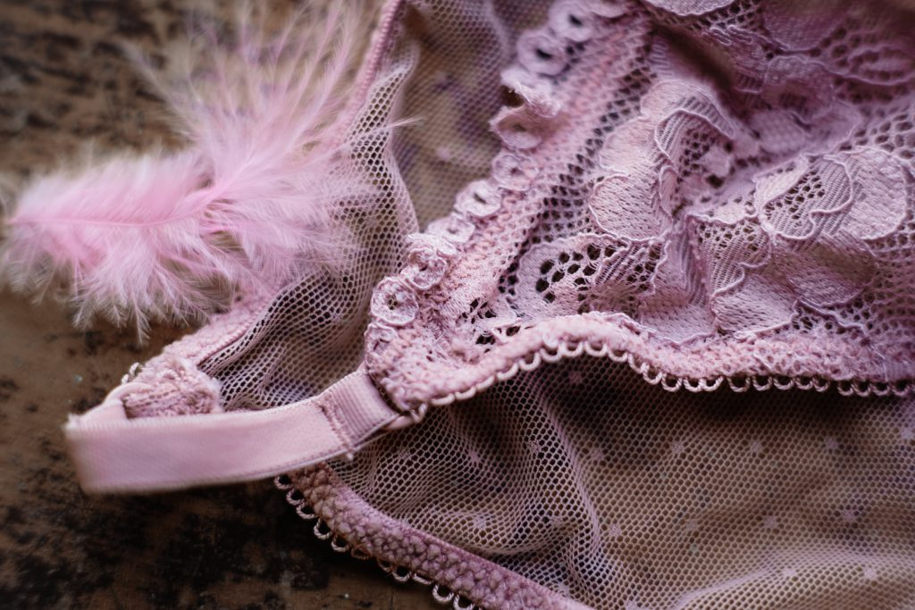 Pink lace lingerie 2 - free stock photo