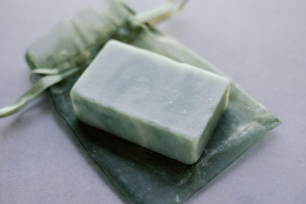 Mint handmade soap bar - free stock photo
