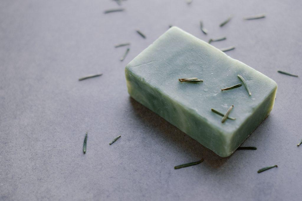 Mint handmade soap bar 4 - free stock photo