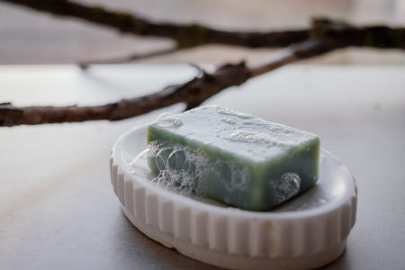 Mint handmade soap bar foam 2 - free stock photo