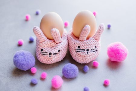 Knitted Easter Bunnies - free stock photo