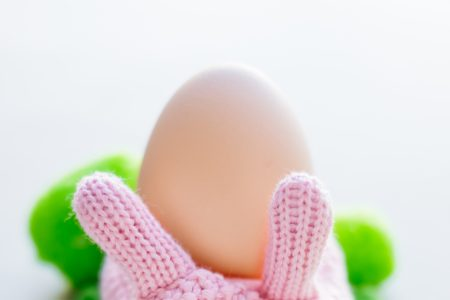 Knitted Easter Bunny - free stock photo