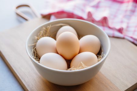 Plain eggs in a bowl 2 - free stock photo