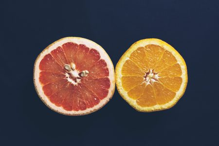 A grapefruit and an orange cut in half 3 - free stock photo