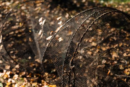 Fish net lying on the ground 2 - free stock photo
