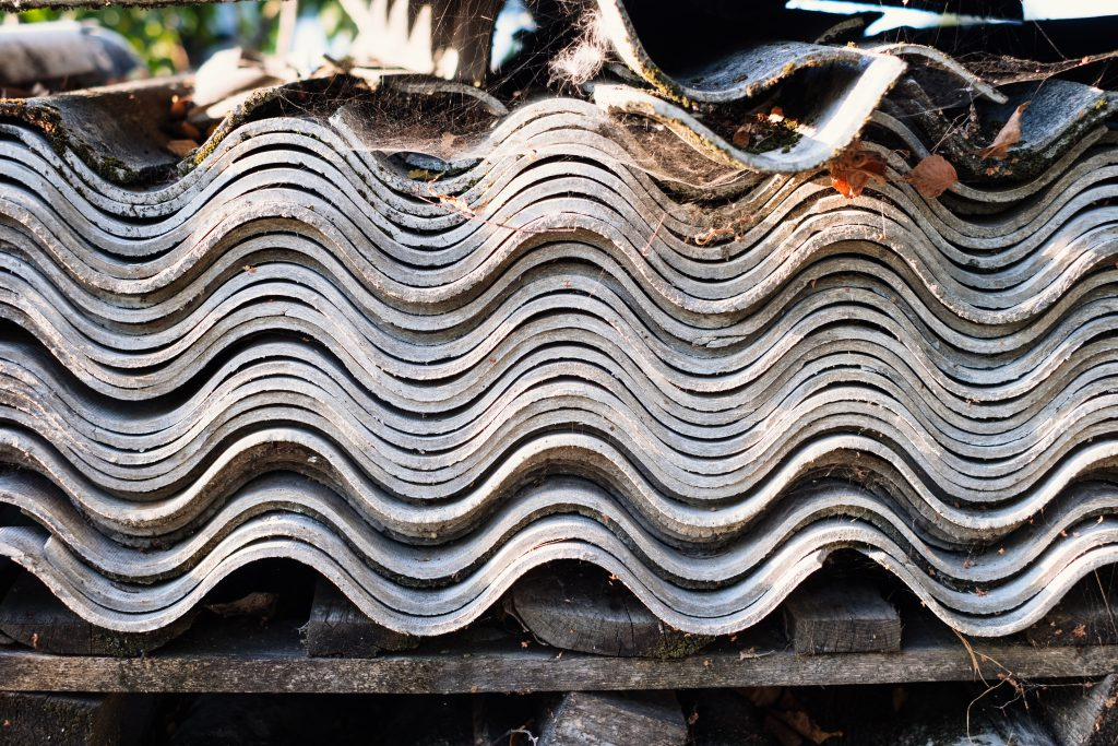 Old fibre cement sheets - free stock photo