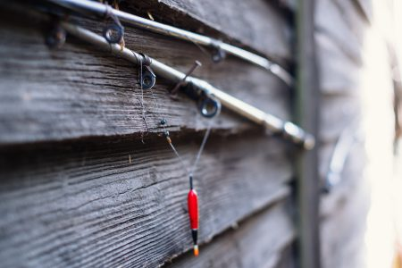 Old fishing rods - free stock photo