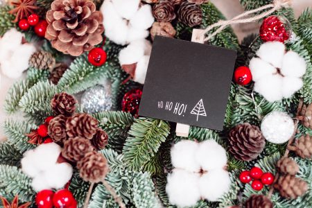 Christmas spruce decoration with a blackboard clamp 5 - free stock photo