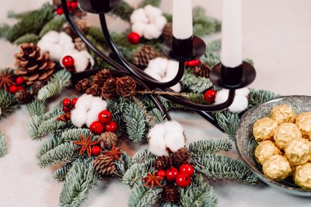 Christmas table decoration - free stock photo