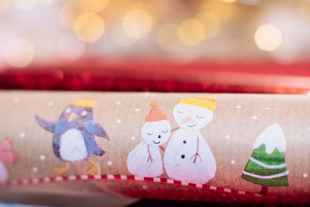 Christmas wrapping paper - free stock photo