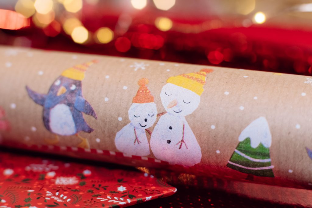 Christmas wrapping paper 2 - free stock photo