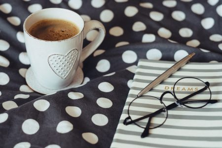 Dreams notebook glasses and coffeemug 3 - free stock photo