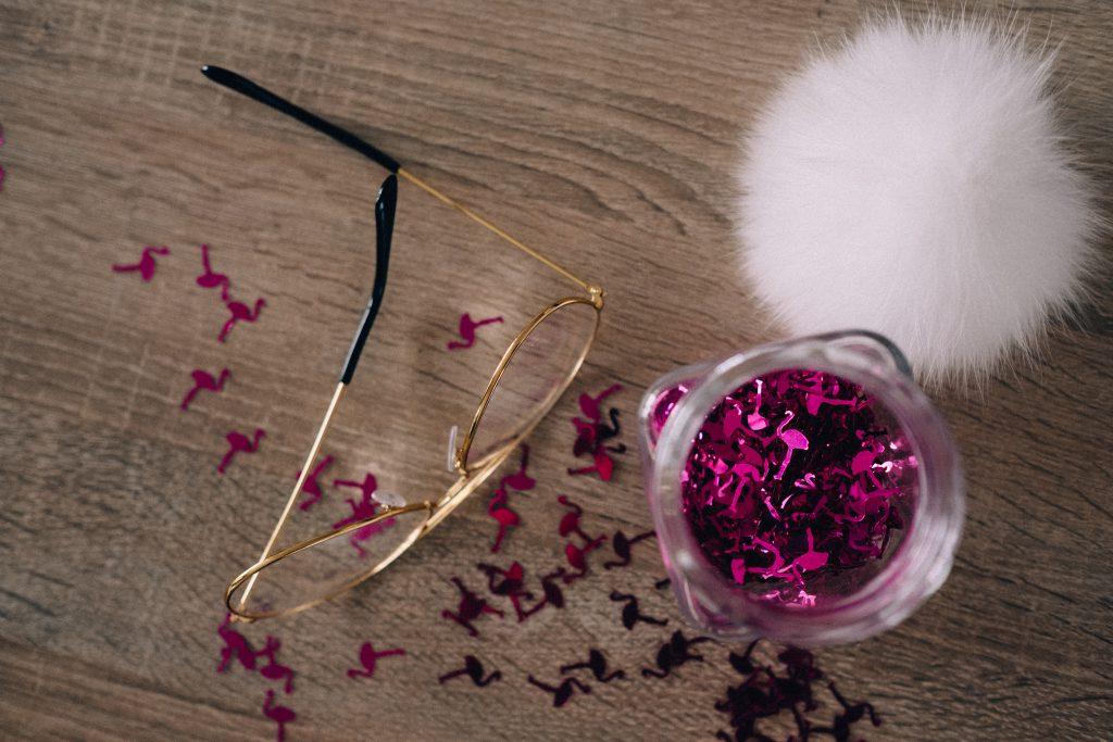 Flamingo confetti in a jar 4 - free stock photo
