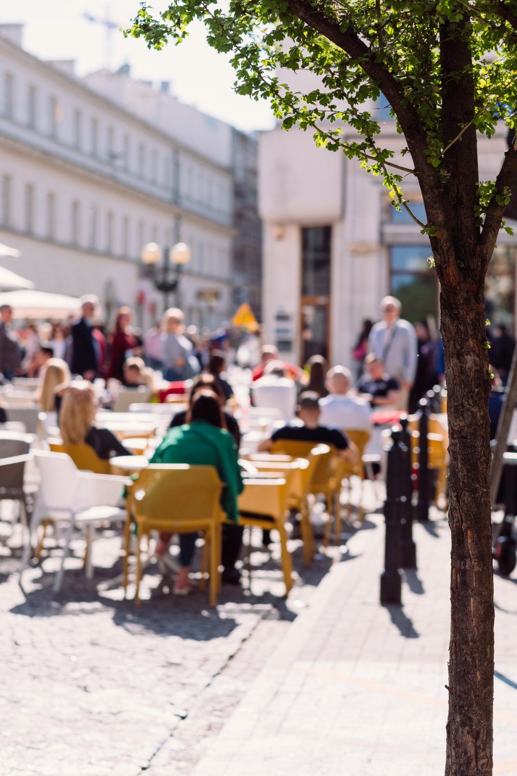 People dining at a restaurant outdoor seating - free stock photo