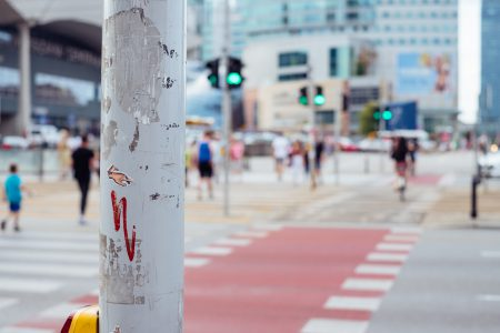 Cyclists and pedestrians crossing the road 2 - free stock photo