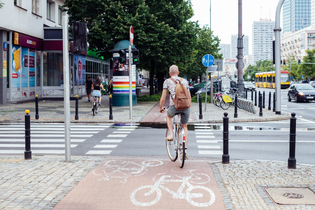 Cyclists crossing the road 3 - free stock photo