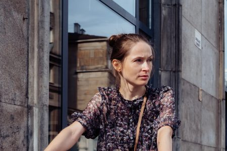Female on a bicycle in the city 2 - free stock photo