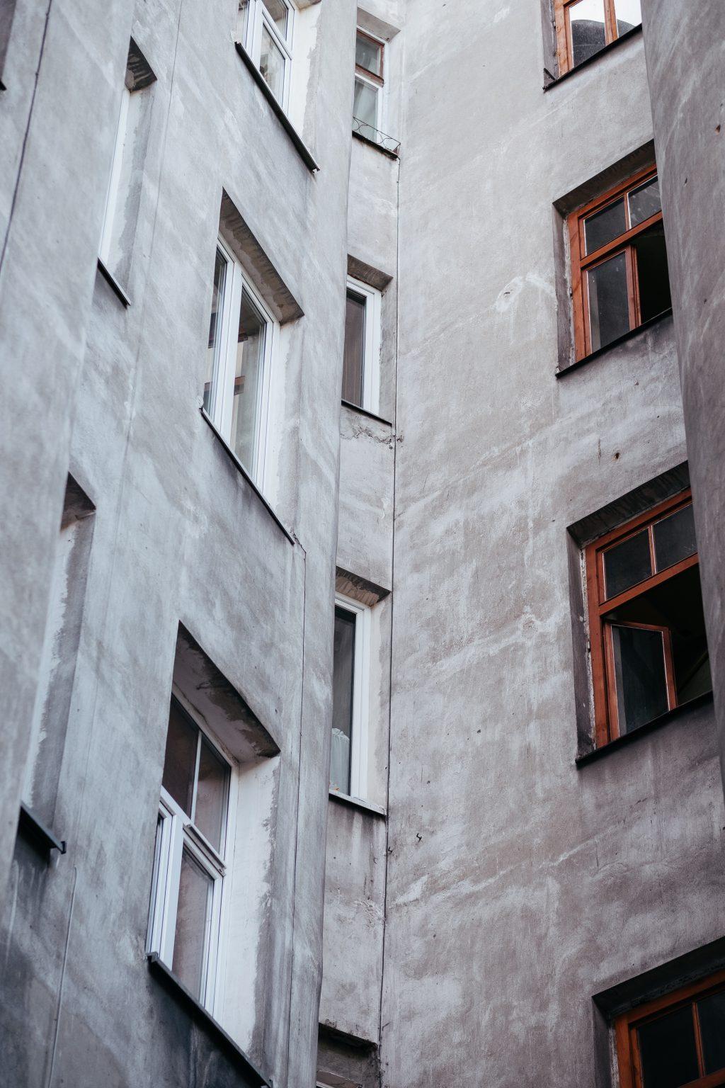 Grey building - free stock photo