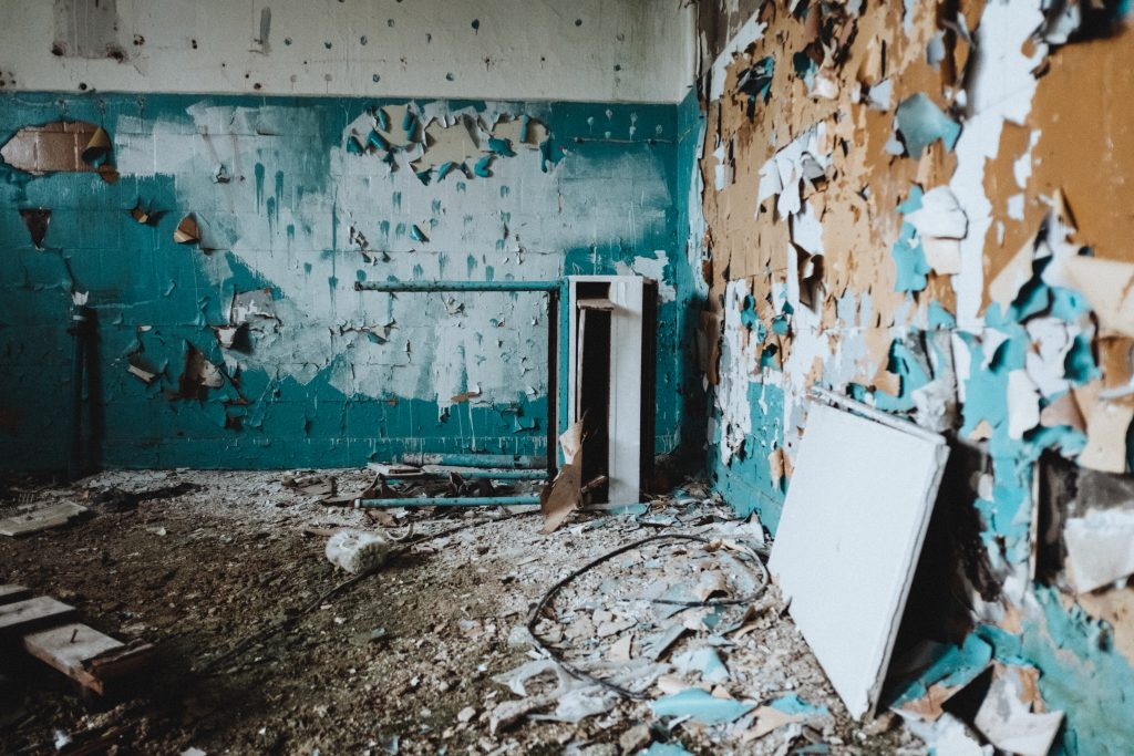 Abandoned ruined building interior 2 - free stock photo