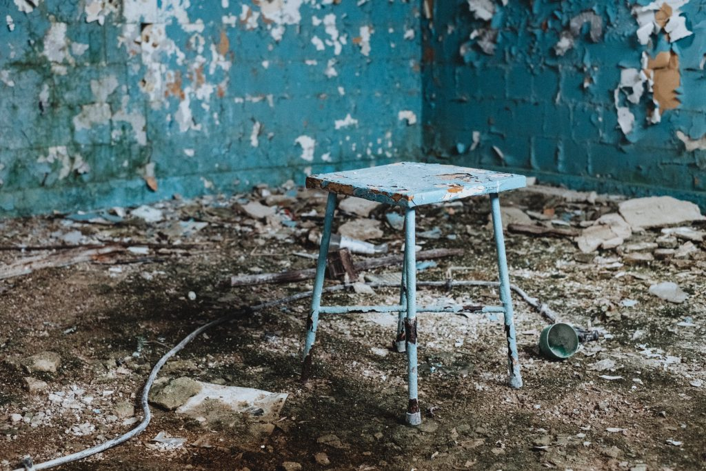 Abandoned ruined building interior 3 - free stock photo
