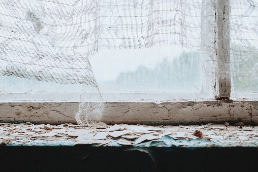 Abandoned ruined building window sill 2 - free stock photo