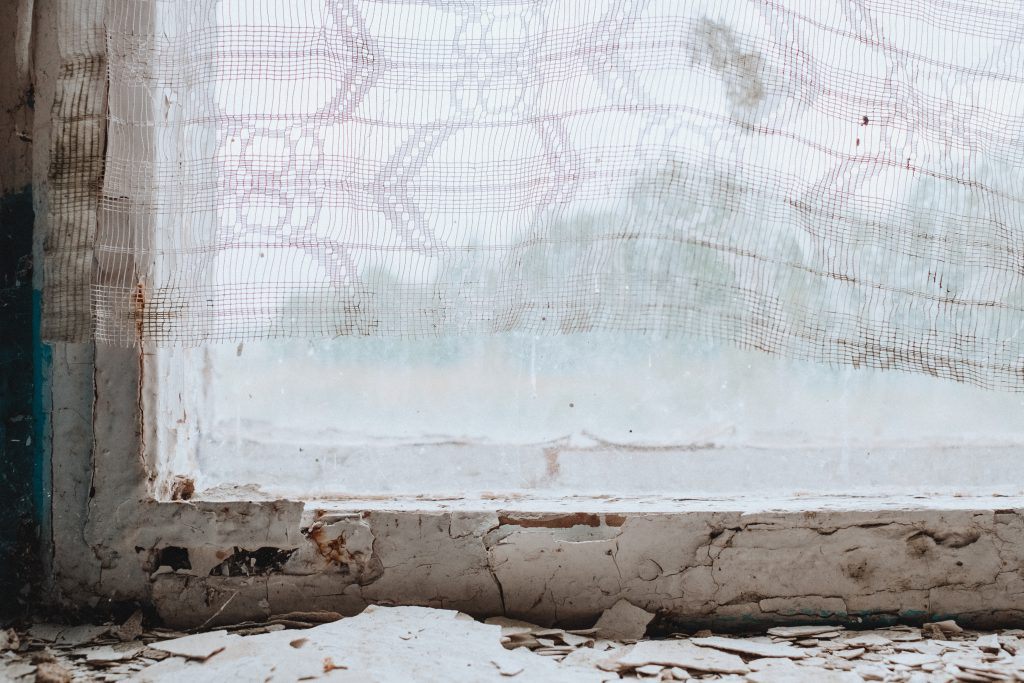 Abandoned ruined building window sill 3 - free stock photo