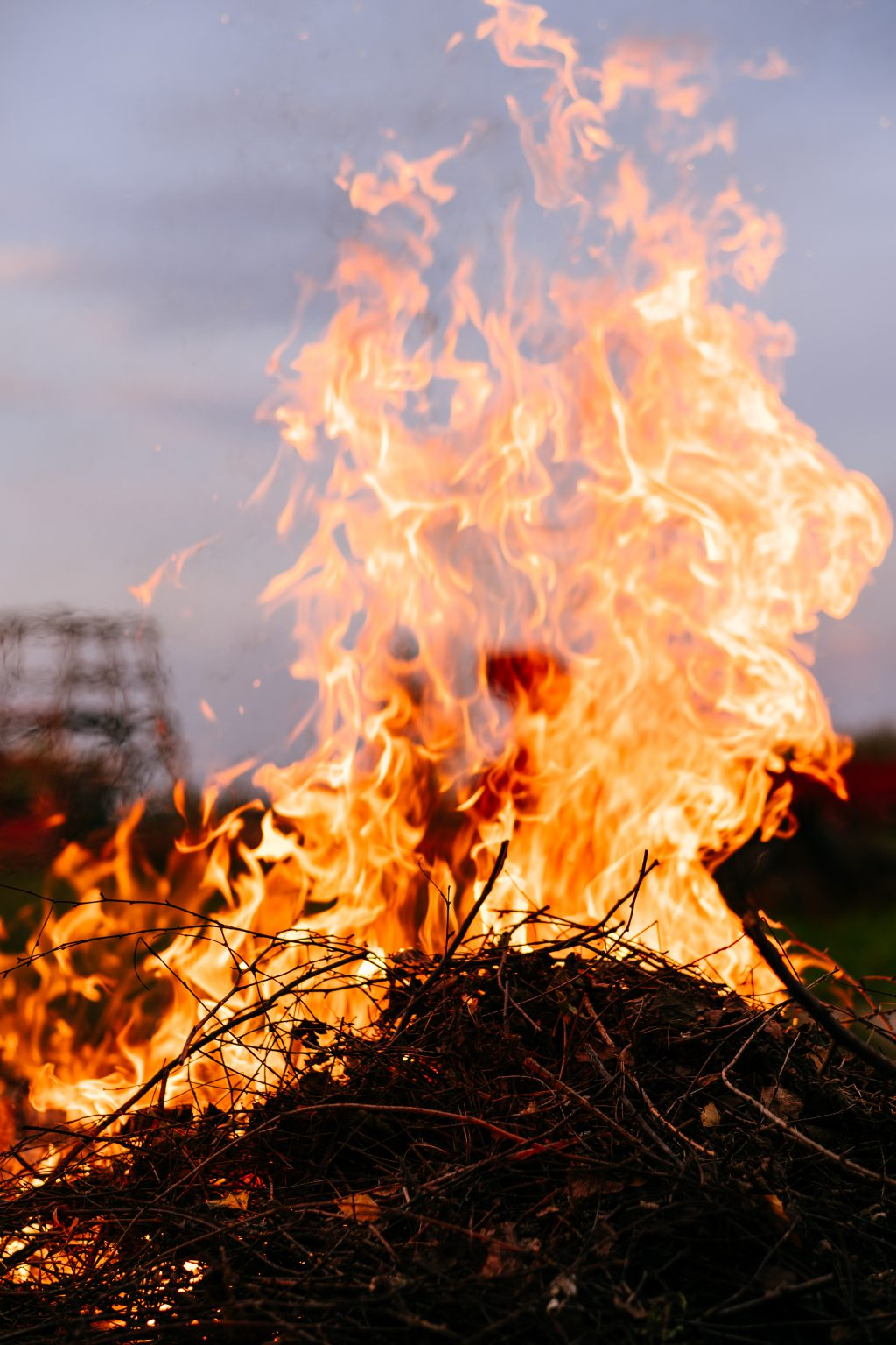 Bonfire flames 3 - free stock photo
